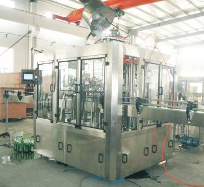 500ml 2000BPH Glass Bottle Carbonated Drink Filling Machine